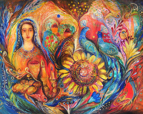 Original Poster featuring the painting The Shabbat Queen by Elena Kotliarker