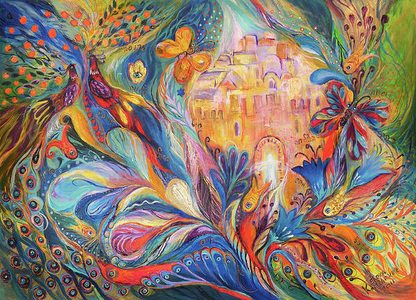 Original Poster featuring the painting The Spirit Of Jerusalem by Elena Kotliarker
