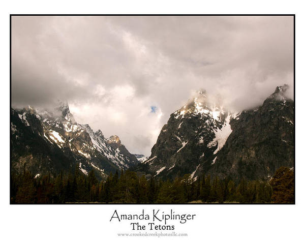 Landscape Poster featuring the photograph The Tetons by Amanda Kiplinger
