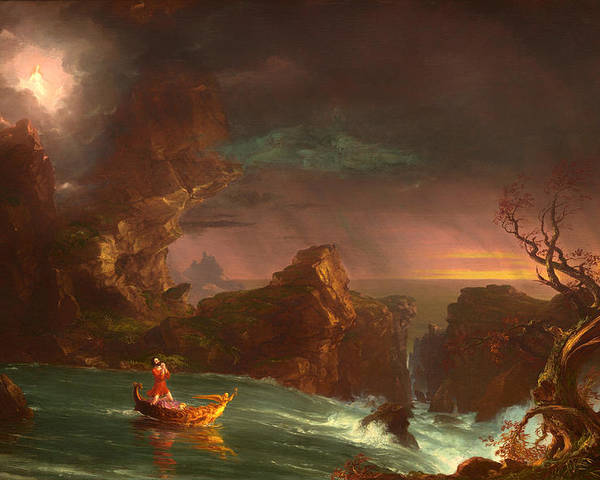Painting Poster featuring the painting The Voyage Of Life - Manhood by Mountain Dreams