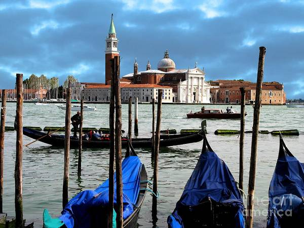 Venice Poster featuring the photograph Three Boats by Don Kenworthy