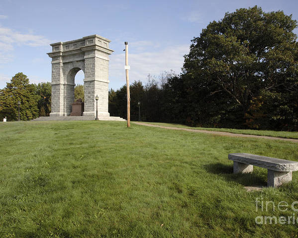 Granite Poster featuring the photograph Titus Arch Replica - Northfield Nh Usa by Erin Paul Donovan
