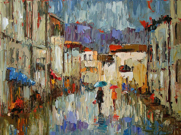 Impressionist Poster featuring the painting Tourists by Debra Hurd