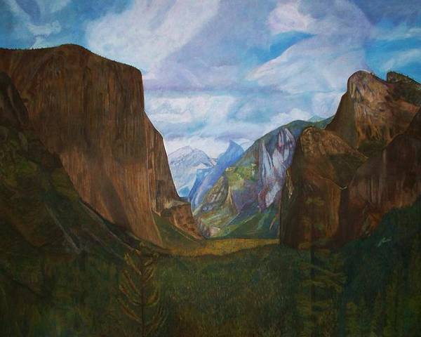 Yosemite Poster featuring the painting Tunnel Vision by Arvin Nealy