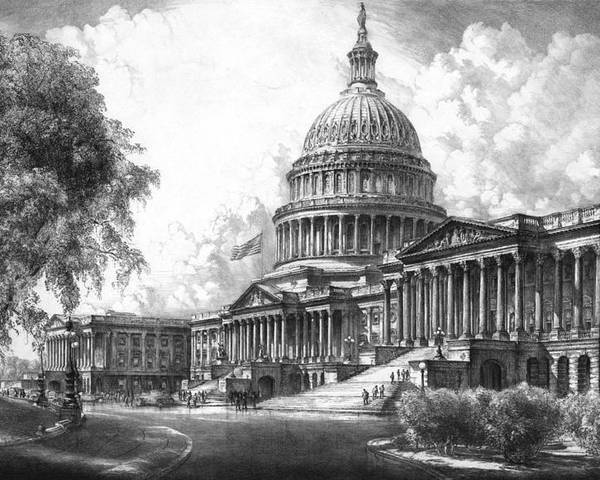 United States Capitol Building Poster By War Is Hell Store