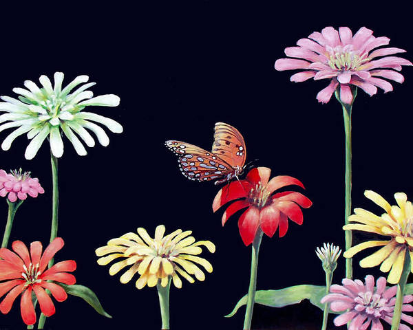 Flowers Poster featuring the painting Untitled 1 by Philip Fleischer