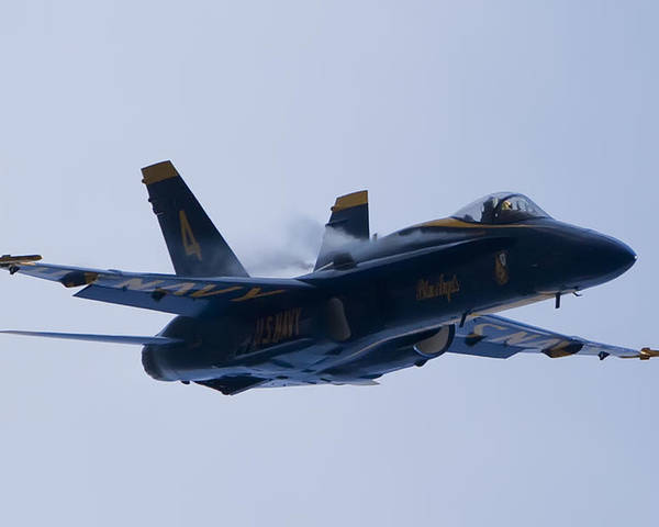 Us Navy Poster featuring the photograph Us Navy Blue Angels High Speed Turn by Dustin K Ryan