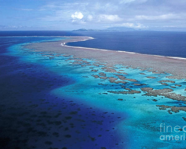 Aerial Poster featuring the photograph Wakaya Island Aerial by Larry Dale Gordon - Printscapes