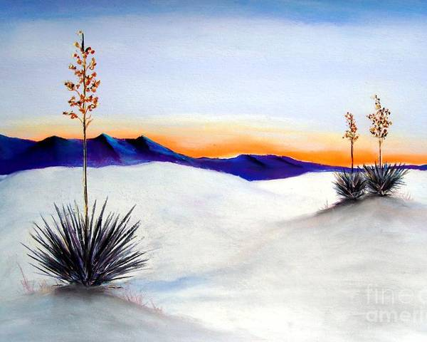White Sands Poster featuring the painting White Sands by Melinda Etzold