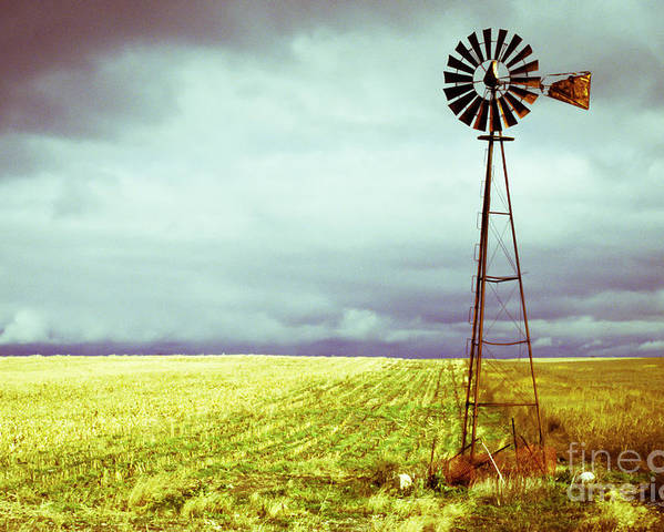 Canada Poster featuring the photograph Windmill Against Autumn Sky by Gordon Wood