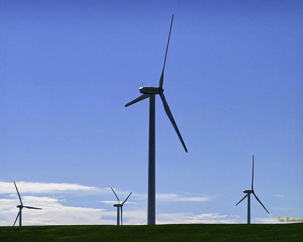 Wind Generators Poster featuring the photograph Windy Power by Tom Buchanan