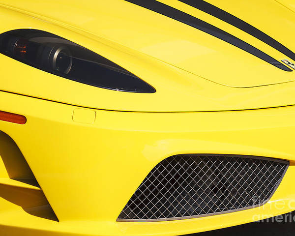 Ferrari Poster featuring the photograph Yellow Stradale by Dennis Hedberg