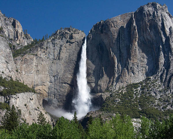 Poster featuring the photograph Yosemite Falls by Jim Riel