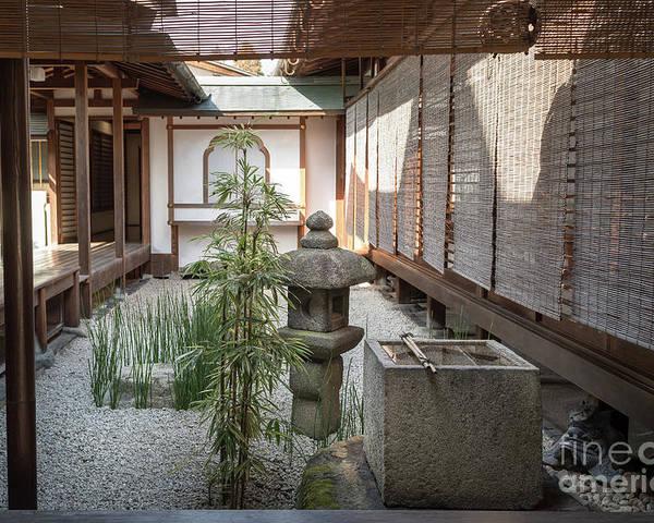 Zen Poster featuring the photograph Zen Garden, Kyoto Japan by Perry Rodriguez