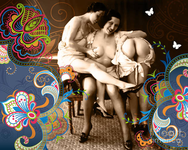 Erotic Poster featuring the photograph Goddesses by Chris Andruskiewicz