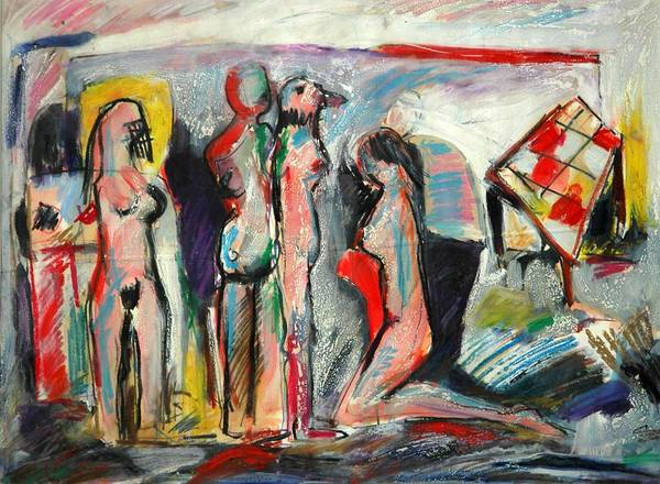 Figures-abstract-explainable Poster featuring the painting Painting by Ibrahim El tanbouli