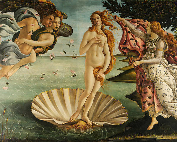 Sandro Botticelli Poster featuring the painting The Birth Of Venus by Sandro Botticelli