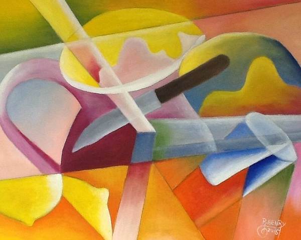 Poster featuring the painting Abstract by Reginald Henry