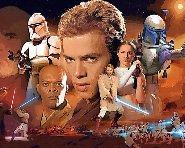 Star Wars Vader Poster featuring the digital art Galaxies Star Wars Art by Larry Jones