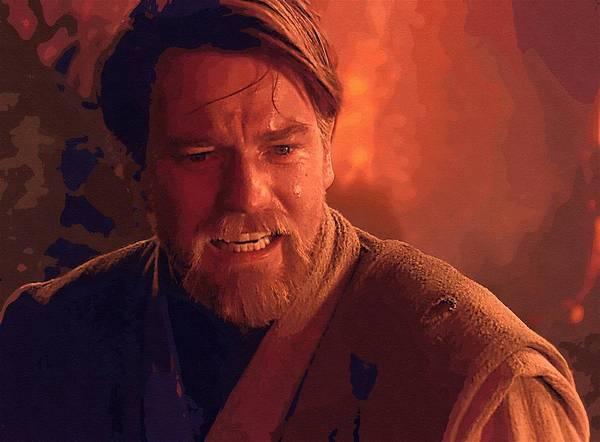 Star Wars Republic Poster featuring the digital art New Star Wars Art by Larry Jones