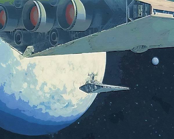 Jedi Star Wars Poster featuring the digital art Saga Star Wars Poster by Larry Jones