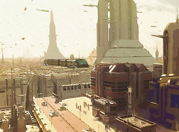 Star Wars Clone Trooper Poster featuring the digital art Star Wars Episode Art by Larry Jones