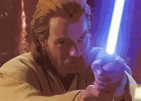 Jedi Star Wars Poster featuring the digital art Star Wars Movie Poster by Larry Jones