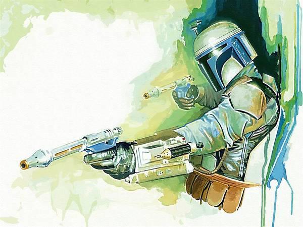 Star Wars Trooper Poster featuring the digital art 2 Star Wars Poster by Larry Jones