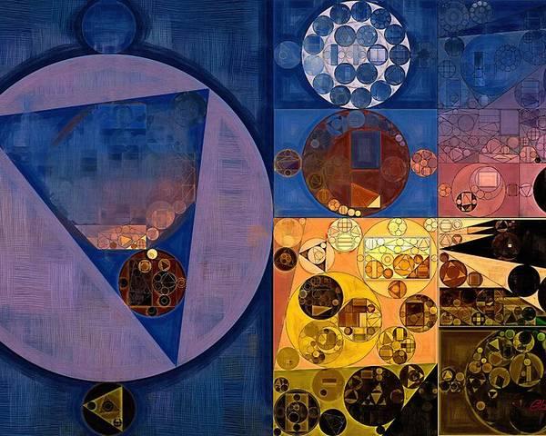 Oil Paint Poster featuring the digital art Abstract Painting - Zinnwaldite Brown by Vitaliy Gladkiy