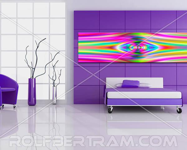 Poster featuring the digital art An Example Of Modern Art By Rolf Bertram In An Interior Design Setting by Rolf Bertram