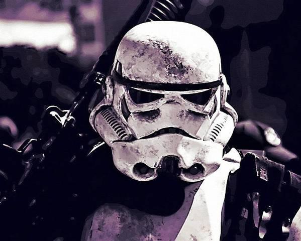 Star Wars Republic Poster featuring the digital art Star Wars Episode Art by Larry Jones