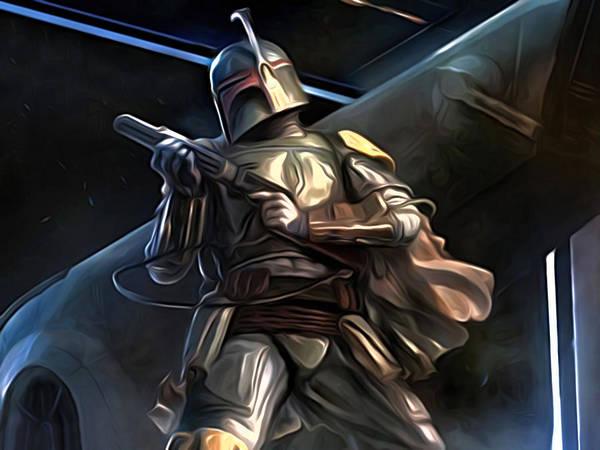 Star Wars Poster featuring the digital art Movies Star Wars Art by Larry Jones