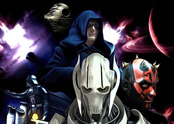 Star Wars Poster featuring the digital art 2 Star Wars Art by Larry Jones