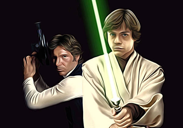 Star Wars Poster featuring the digital art Star Wars Print And Poster by Larry Jones