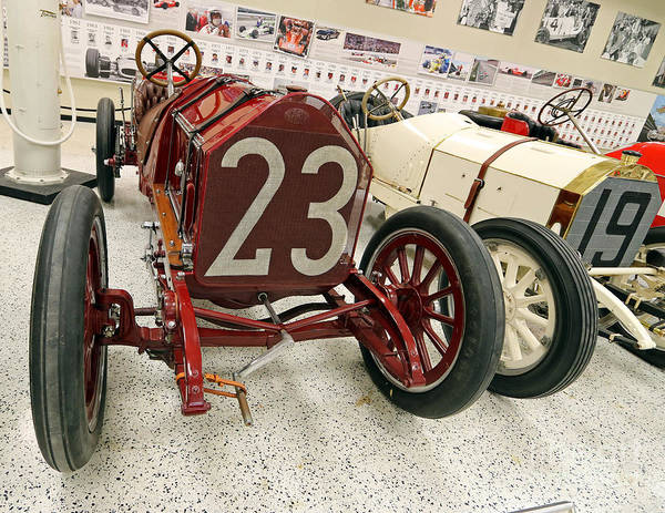 Itala Poster featuring the photograph 1907 Itala Gran Prix Race Car by Steve Gass