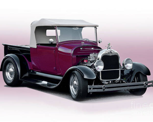 Auto Poster featuring the photograph 1928 Ford Roadster Pickup I by Dave Koontz