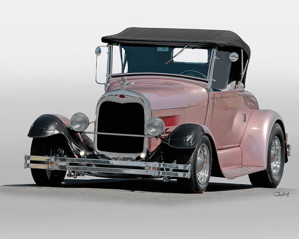 Auto Poster featuring the photograph 1929 Ford 'champagne Blush' Roadster by Dave Koontz