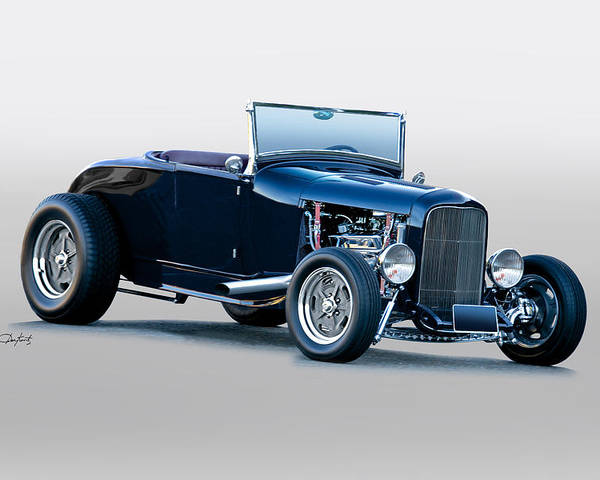 Auto Poster featuring the photograph 1930 Ford 'blu Mood' Roadster by Dave Koontz