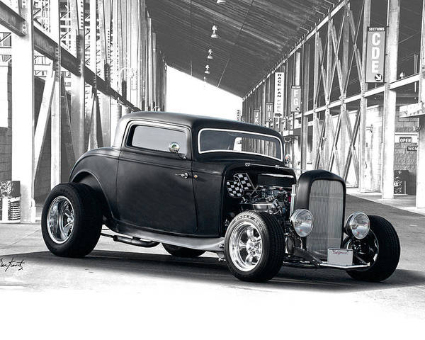 Auto Poster featuring the photograph 1932 Ford 'deuce' Coupe I by Dave Koontz