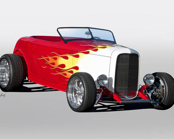 Auto Poster featuring the photograph 1932 Ford 'hot Stuff' Roadster by Dave Koontz