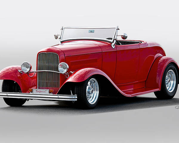 Auto Poster featuring the photograph 1932 Ford 'love Child' Roadster by Dave Koontz