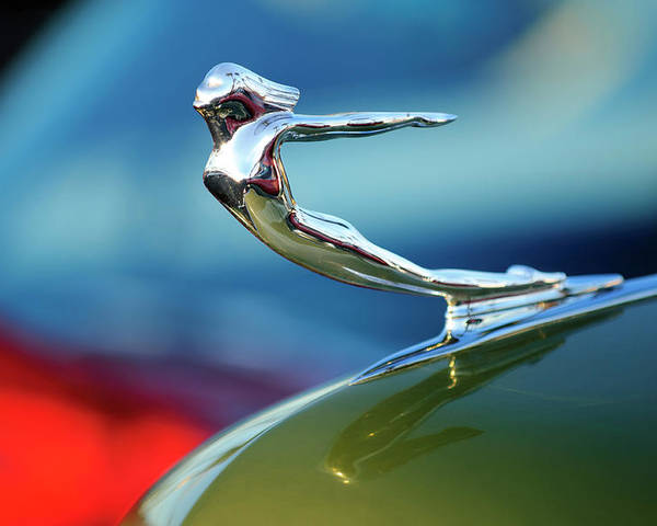 1936 Cadillac Poster featuring the photograph 1936 Cadillac Hood Ornament 2 by Jill Reger