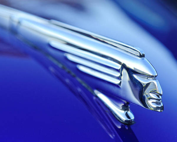 1939 Pontiac Coupe Poster featuring the photograph 1939 Pontiac Coupe Hood Ornament 4 by Jill Reger