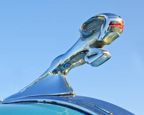1940 Dodge Business Coupe Poster featuring the photograph 1940 Dodge Business Coupe Hood Ornament by Jill Reger