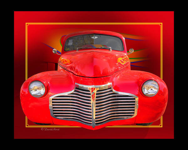 '41 1940 Chevy Chevrolet Coupe Custom Rod street Rod hot Rod Poster Art Autoart Car Auto Automobile Poster featuring the photograph 1941 Chevy Custom by David Horst