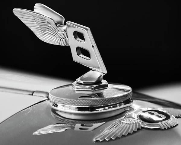 1948 Bentley Poster featuring the photograph 1948 Bentley Hood Ornament 3 by Jill Reger