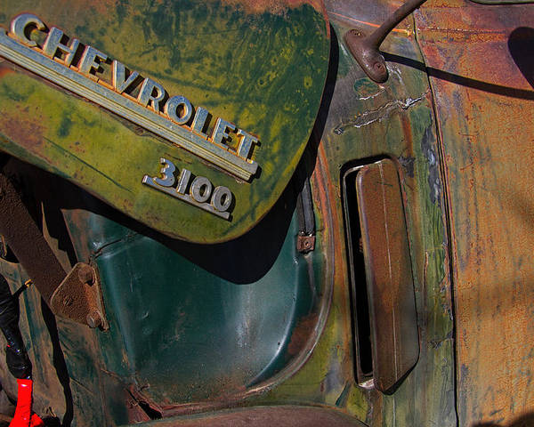 1950 Poster featuring the photograph 1950 Chevrolet Pickup Truck Emblem by Nick Gray