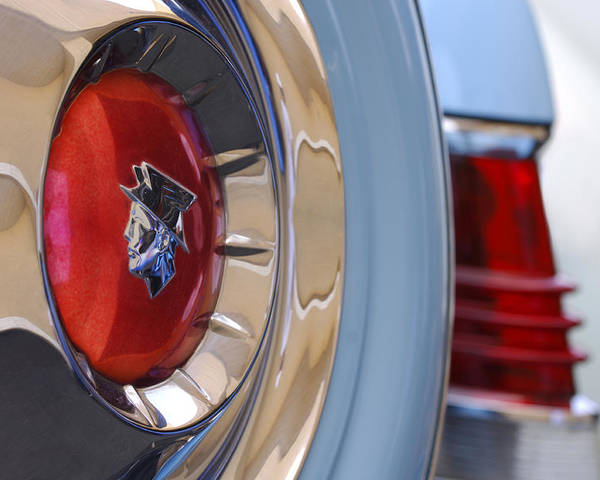 Car Poster featuring the photograph 1954 Mercury Monterey Merco Matic Spare Tire by Jill Reger