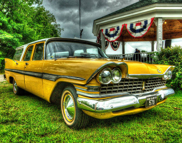 Plymouth Poster featuring the photograph 1959 Plymouth Suburban Sport 001 by Jeff Stallard