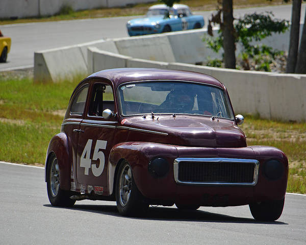 Volvo Poster featuring the photograph 1959 Volvo 544 by Mike Martin